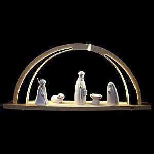 Schwibbögen Alle Schwibbögen Schwibbogen modern wood LED-Bogen groß Christi Geburt - 57x26x10cm