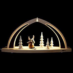 Schwibbögen Alle Schwibbögen Schwibbogen modern wood LED-Bogen klein Elch - 41x20x9,5cm