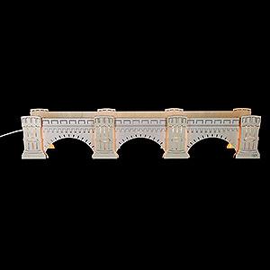 NEUHEITEN Neuheiten 2016 Schwibbogenerhöhung Augustusbrücke, beleuchtet - 72x13x11,5cm