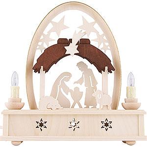 Schwibbögen Laubsägearbeiten Seidelbogen Christi Geburt - 25cm