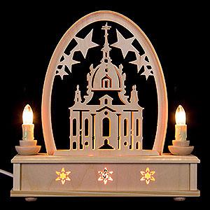Schwibbögen Laubsägearbeiten Seidelbogen Frauenkirche - 25 cm