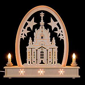 Schwibbögen Laubsägearbeiten Seidelbogen Frauenkirche - 36 cmx31 cm