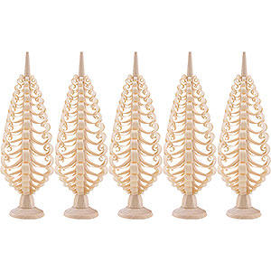 Small Figures & Ornaments Wood Chip Trees Wood Chip Trees (Seiff. Vk.) Seiffen Wood chip tree set of 5 - 10cm / 3.9inch