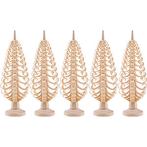 Small Figures & Ornaments Wood Chip Trees Wood Chip Trees (Seiff. Vk.) Seiffen Wood chip tree set of 5 - 12cm / 4.7inch