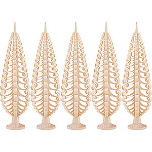 Small Figures & Ornaments Wood Chip Trees Wood Chip Trees (Seiff. Vk.) Seiffen Wood chip tree set of 5 - 20cm / 7.9inch