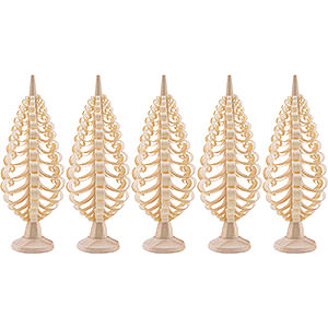 Small Figures & Ornaments Wood Chip Trees Wood Chip Trees (Seiff. Vk.) Seiffen Wood chip tree set of 5 - 8cm / 3.1inch