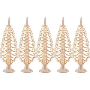 Kleine Figuren & Miniaturen Spanbäume Spanbäume (Seiffener Vk.) Seiffener Spanbaum 5er Set - 10cm