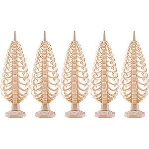 Kleine Figuren & Miniaturen Spanbäume Spanbäume (Seiffener Vk.) Seiffener Spanbaum 5er Set - 12 cm