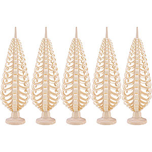 Kleine Figuren & Miniaturen Spanbäume Spanbäume (Seiffener Vk.) Seiffener Spanbaum 5er Set - 15 cm