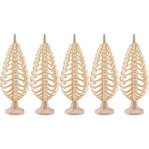 Kleine Figuren & Miniaturen Spanbäume Spanbäume (Seiffener Vk.) Seiffener Spanbaum 5er Set - 8cm