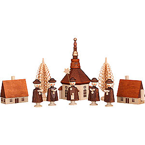 Small Figures & Ornaments Carolers Seiffen's Village with Carolers - 12 cm / 5 inch