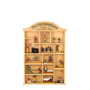 Kleine Figuren & Miniaturen Märchenfiguren Struwwelpeter (Ulbricht) Setzkasten für Struwwelpeterfiguren - 40x59 cm