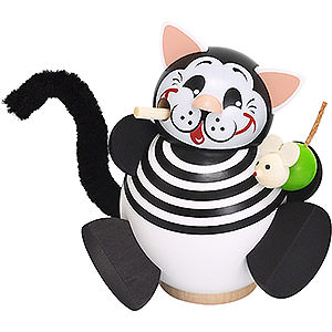 Smokers Animals Smoker Ball Figur Smoker Cat - 11 cm / 4 inch