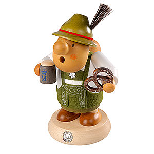 Smokers Hobbies Smoker Bavarian with costume - 16cm / 6 inch