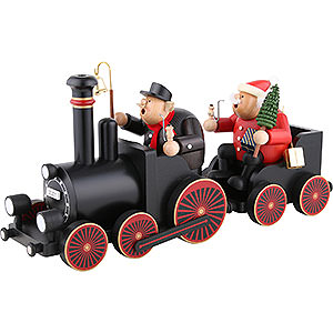 Smokers Professions Smoker Engine driver with train - 22 cm / 9 inch