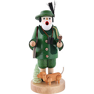 Smokers Professions Smoker Forest Ranger with Dachsdog - 7 inch - 19 cm