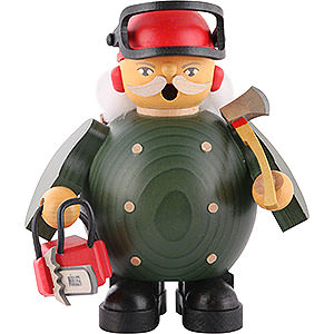 Smokers Professions Smoker - Forest Worker with Saw - 14 cm / 5.5 inch
