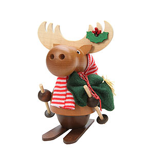 Smokers Animals Smoker Moose with Ski - 13,0 cm / 5 inch
