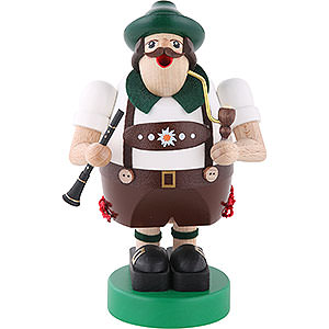 Smokers Professions Smoker Octoberfest musician with Clarinet - 6 inch - 16 cm