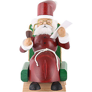 Smokers Santa Claus Smoker Santa Claus in armchair - 5 inch - 13 cm