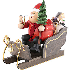 Smokers Santa Claus Smoker Santa Claus with sleigh - 30 cm / 12 inch