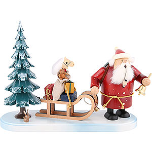 Smokers Santa Claus Smoker Santa comes - 21 cm / 8 inch