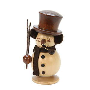 Smokers Snowmen Smoker Snowboy natural colors - 10,0 cm / 4 inch