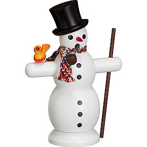 Smokers Snowmen Smoker Snowman with Scarf - 16 cm / 6 inch