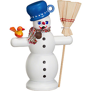 Smokers Snowmen Smoker Snowman with blue Pot - 16 cm / 6 inch