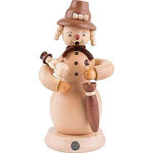 Smokers Snowmen Smoker - Snowwoman - 23 cm / 9 inch
