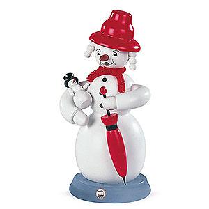 Smokers Snowmen Smoker Snowwoman - colored - 23 cm / 9 inch