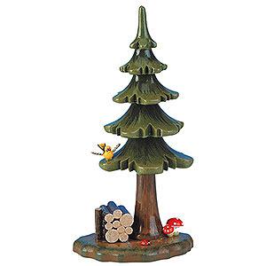 Kleine Figuren & Miniaturen Hubrig Blumenkinder Sommerbaum mit Holzstapel - 16cm