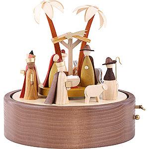 Spieldosen Weihnachten Spieldose Christi Geburt, 28er Spielwerk Stille Nacht - 22cm