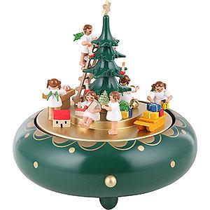 Spieldosen Weihnachten Spieldose Engelheimlichkeit Stille Nacht - 18cm