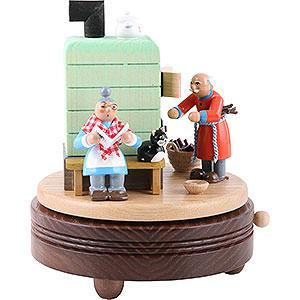 Spieldosen Diverse Motive Spieldose Feierabend am Rauchofen - 15 cm
