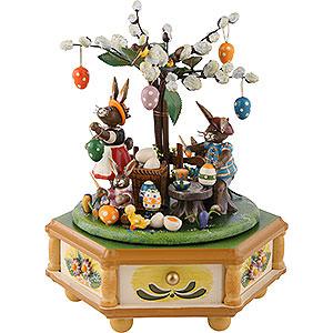 Spieldosen Jahreszeiten Spieldose Fleißige Osterhasen - 23cm