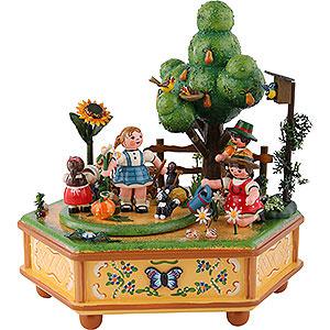Spieldosen Jahreszeiten Spieldose Unser kleiner Garten - 20cm