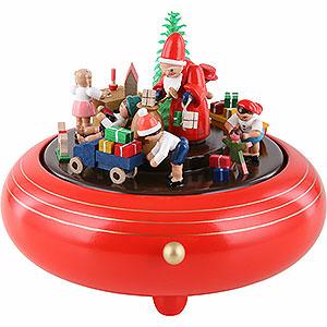 Spieldosen Weihnachten Spieldose Weihnachtsbescherung - 14 cm