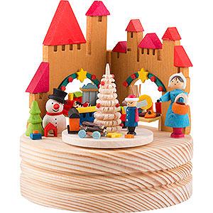 Spieldosen Weihnachten Spieldose Weihnachtsmarkt - 11,5 cm