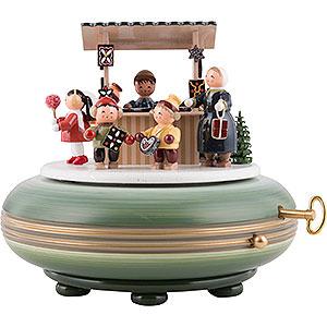 Spieldosen Weihnachten Spieldose Weihnachtsmarkt - 16cm