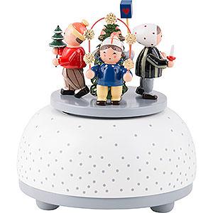 Spieldosen Jahreszeiten Spieldose Winterkinder - 12 cm