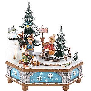 Spieldosen Jahreszeiten Spieldose Winterzeit - 20 cm