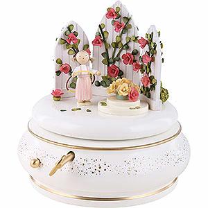 """Spieldosen Jahreszeiten Spieldose """"Im Rosengarten"""", rosé - 18cm"""