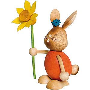Kleine Figuren & Miniaturen Osterartikel Stupsi Hase mit Blume - 12 cm