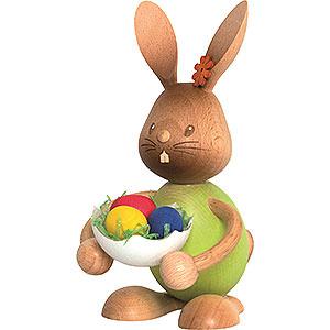 Kleine Figuren & Miniaturen Osterartikel Stupsi Hase mit Eierschale - 12 cm