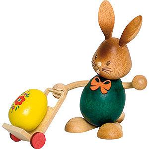Kleine Figuren & Miniaturen Osterartikel Stupsi Hase mit Trolley - 12 cm