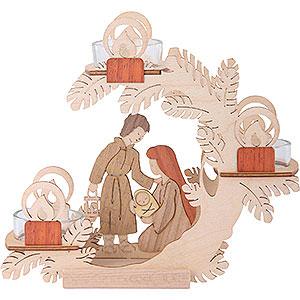 Lichterwelt Kerzenhalter Christi Geburt Teelichtkranz Christi Geburt - 15cm