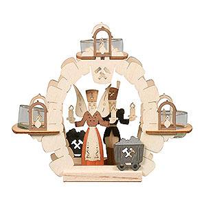 Lichterwelt Kerzenhalter Sonstige Teelichtkranz Engel/Bergmann - 15cm