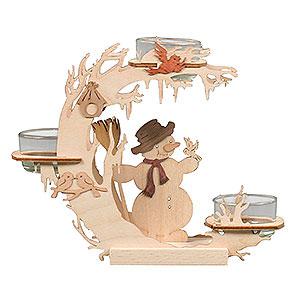 Lichterwelt Kerzenhalter Sonstige Teelichtkranz Schneemann - 15cm