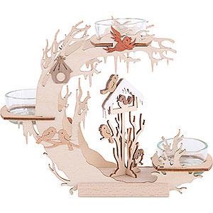 Lichterwelt Kerzenhalter Sonstige Teelichtkranz Vogelhaus - 15cm